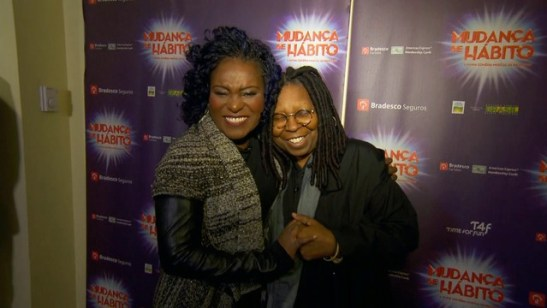 Actress of 'Sister Act' in Brazil meets Whoopi Goldberg in New York