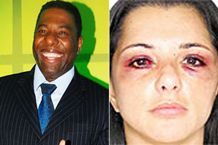 In a highly publicized story from 2005, Sandra Mendes said she was physically assaulted by singer Netinho