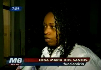 Edna Maria dos Santos, 45, was discriminated against by a customer