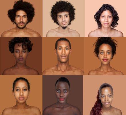 Photos taken from Brazilian artist Angélica Dass's Pantone Skin Tone Project