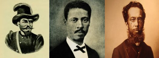 Soldier/militia leader Henrique Dias, engineer and abolicionist André Rebouças and writer Machado de Assis