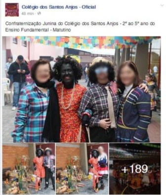 Joinville teacher dresses in blackface and generates controversy on social networks