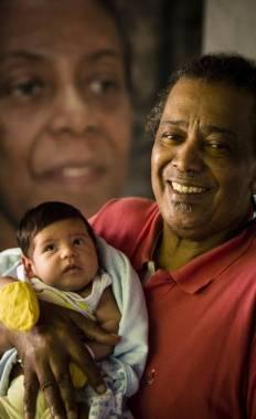 José Luis Pinto Jr. and great-grandson