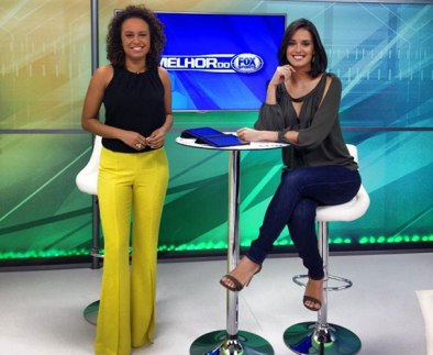 Karine Alves is part of the team of reporters and hosts of Fox Sports