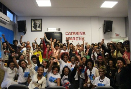 Women from the state of Santa Catarina organizing