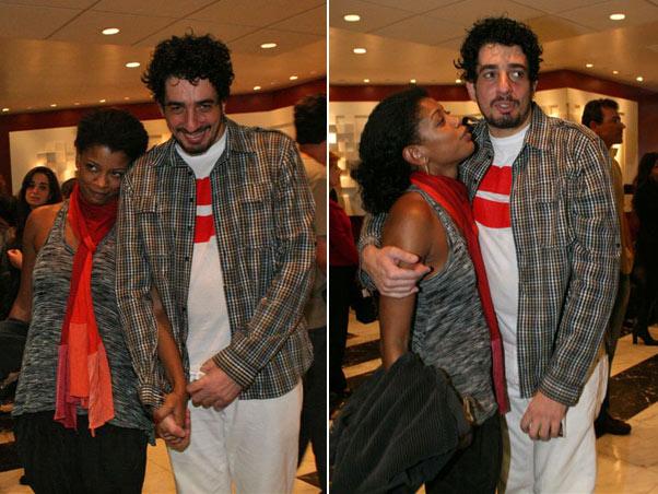 Michel Melamed com a atriz e cantora Thalma de Freitas