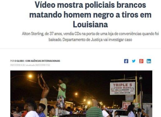 Vídeo mostra policiais brancos matando homem negro a tiros em Louisiana