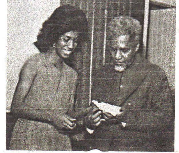 Raquel Trindade e Solano Trindade - Acervo Família Trindade