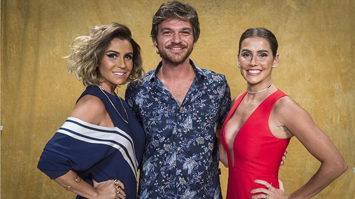 Emílio Dantas, Giovanna Antonelli e Deborah Secco em O Segundo Sol