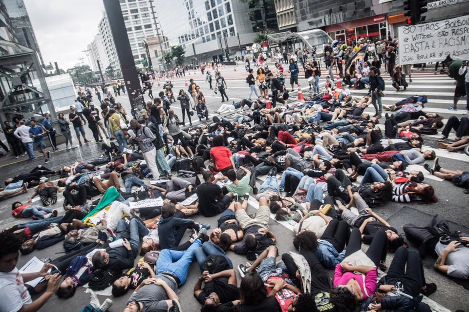 Protest in São Paulo against murder of Evaldo Rosa dos Santos