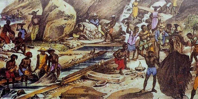 Extração do ouro numa mina do período colonial (2)