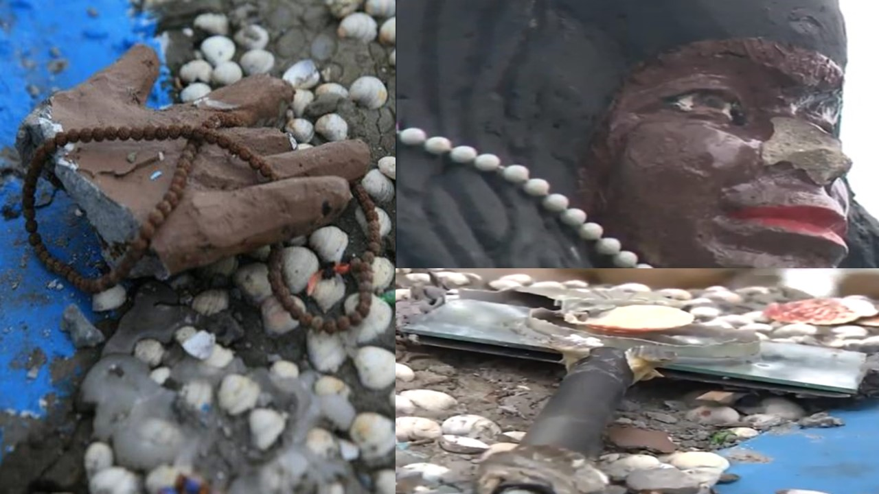 Woman Attacks Statue of African Deity of The Sea Iemanjá
