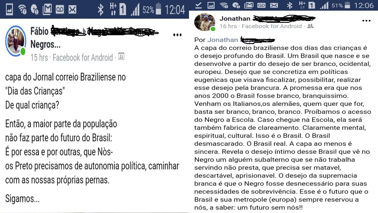 The future of Brazil: Correio Brazilense Releases a Statement about Whites