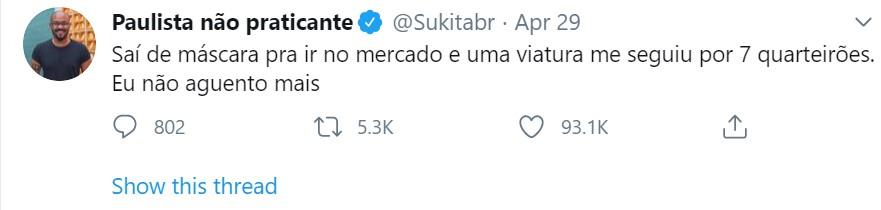 Paulista tweet