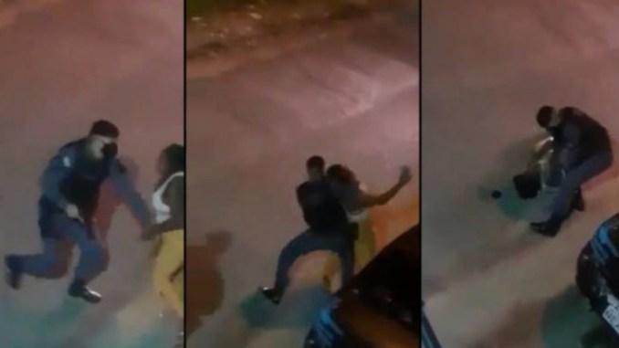 Police in Macapá throw black woman