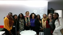 Bernadine Evaristo and students from the Black British Writing class