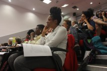 Caribbean and Diasporic Dialogues in the University; From left, Janet Sebastian, Andrea Thomas, Katherine O'Garro