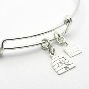 Beehive Charm Bracelet