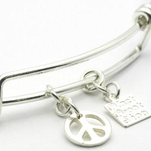 Peace Sign Charm Bracelet