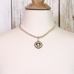 Peace Hemp Cord Necklace