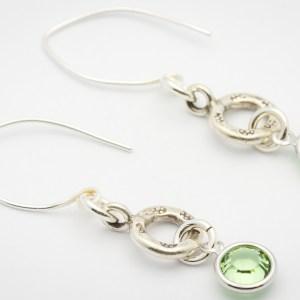 August Flower Design Hill Tribe Silver Drop Earrings