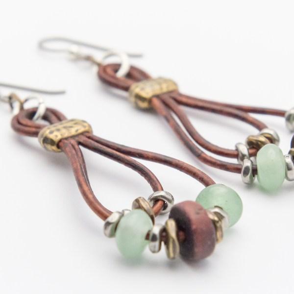Lasso Leather Hoop Earrings