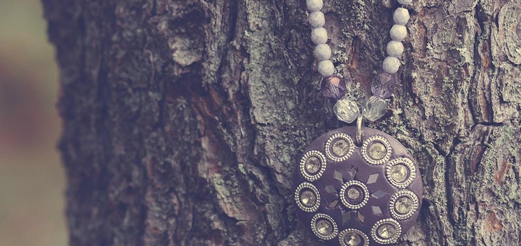 Positive Vibes Czech Glass Necklace