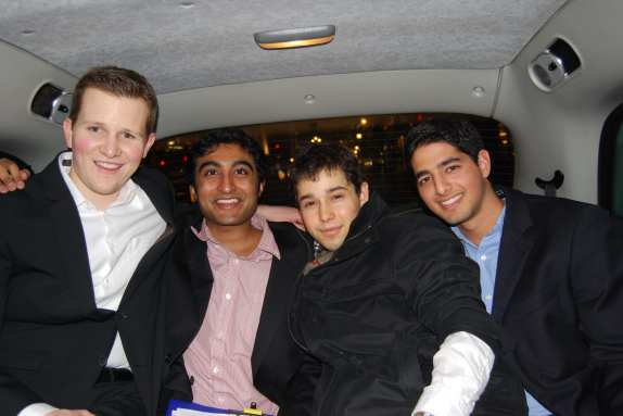 The night is young for Ryan, Vikram, Murat and Pranav !