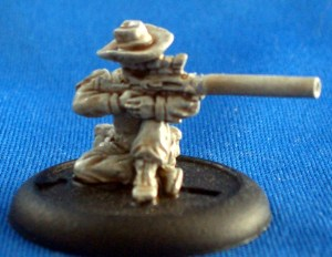 Sniper with cowboy Hat