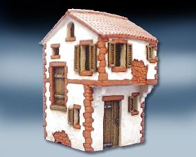 House with small end roof