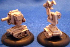 2 tracked robots