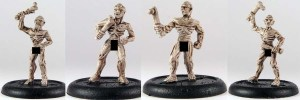 Zombies (anatomically correct)  mixed pack, 4 zombies