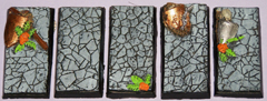5x Ruined Temple 25mm x 50mm bases