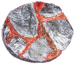 1x Volcanic Earth 60mm base