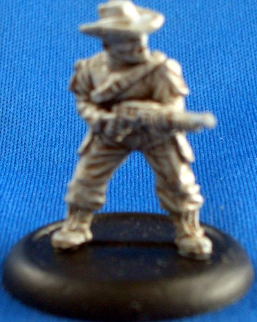 Trooper Medic with cowboy hat and shotgun