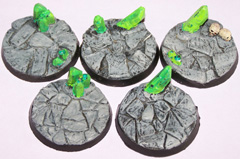 5x Barren Earth 40mm bases.