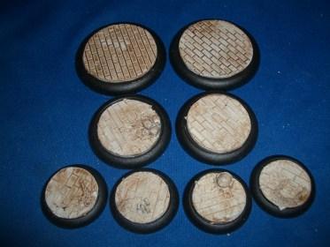 1x 50mm, 1x 40mm & 4x 30mm Brick Floor base inserts