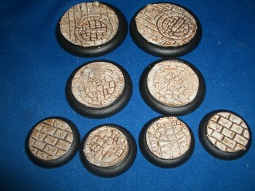 2x 50mm, 2x 40mm & 4x 30mm Broken Sword base inserts