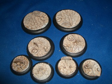 1x 50mm, 1x 40mm & 4x 30mm Cog Floor base inserts