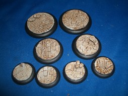 2x 50mm, 2x 40mm & 4x 30mm Irregular Stone Floor base inserts