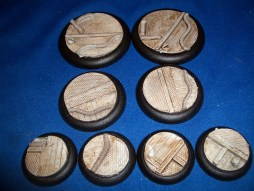 3x Modern Technical 50mm base inserts