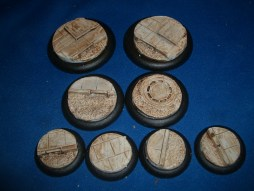 2x 50mm, 2x 40mm & 4x 30mm Roads & Pavements base inserts