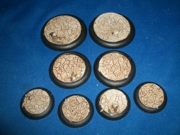 1x 50mm, 1x 40mm & 4x 30mm Ruined Temple base inserts