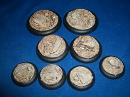 10x Sand and Slate 30mm base inserts