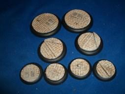 1x 50mm, 1x 40mm & 4x 30mm Victorian Street base inserts