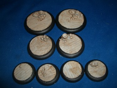 3x Wooden Plank Floor 50mm base inserts