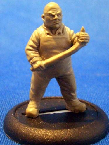 Fisherman with crowbar