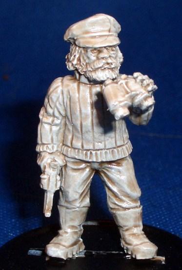 Fisherman with Gun and binoculars
