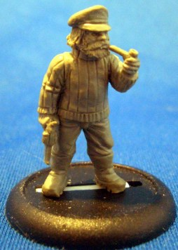 Fisherman with pipe and gun