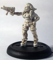 Female Tcho Tcho with machine pistol